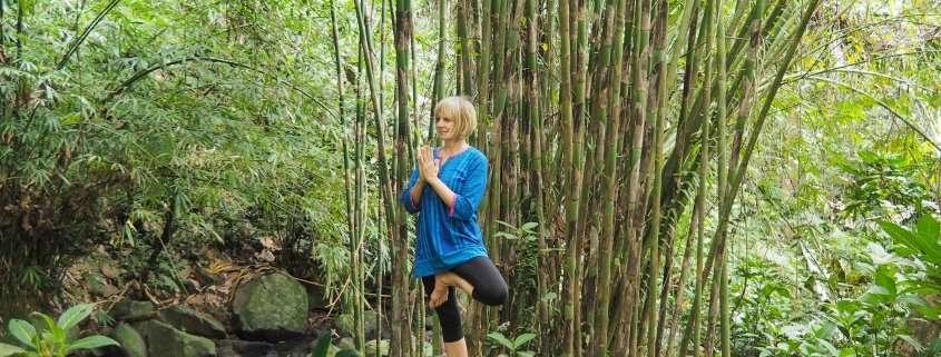 Bali Retreat, yoga pose at Baliecostay