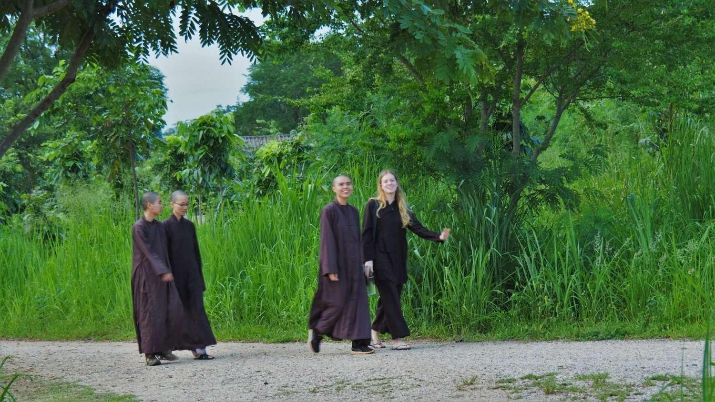 Walking Meditation at Thai Plumvillage
