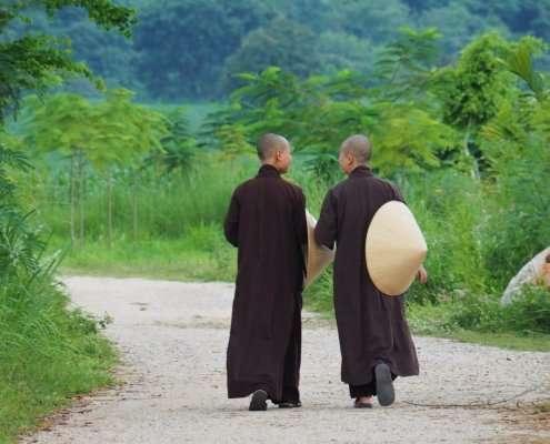 Mindfulness at Lifestyle, monastics at Thai Plum Village